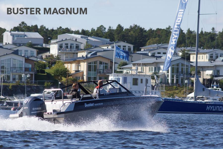 Buster Magnum aluminiumsbåt i båtmässan