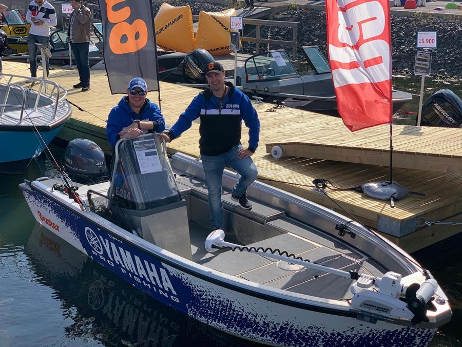 Buster-heittokalastusvene ja Yamaha Pro Fishing team: Jani Ollikainen ja Aleksi Juusti