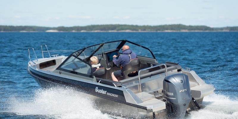 Aluminium powerboat Buster Magnum empowered by Yamaha