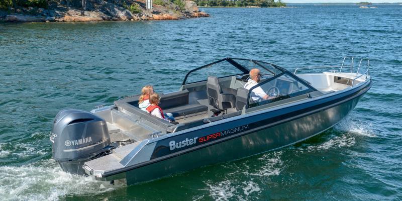 Buster SuperMagnum aluminium boat