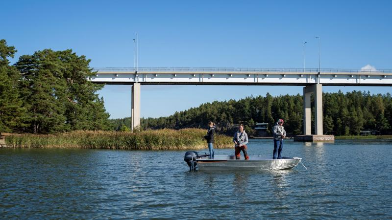 Buster XS is a functional fishing boat